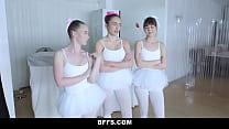 Ballerina teens get fucked by their new slick teacher Vorschaubild