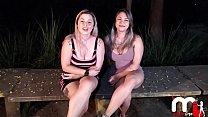 Mônica Lima e Fernandinha Fernandez retornam a praça da putaria em SP e fodem com desconhecidos!