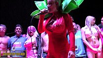Hot porstars presentation on stage