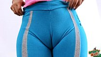 AMAZING HUGE PUFFY CAMELTOE and TIGHT ROUND ASS in LEGGINGS
