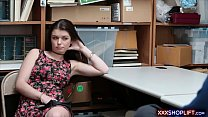 7553 Confused teen shoplifter lets a security guard fuck her preview