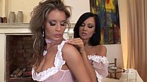 Ultr a Sexy Hungarian beauties Lora Craft and Regina Moon in delicious foot and leg worship