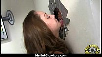 Gloryhole Secrets Hot teen cutie swallows cum 13