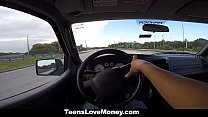 TeensLoveMoney - Busty Babe Gets Towed, Fucked And Paid! thumbnail
