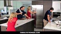 Step Sister Sucks And Fucks Brother During Thanksgiving Dinner - Quintal Das Amadoras thumbnail
