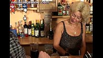 Perfect granny looks for an orgasm at a bar table pornhub video