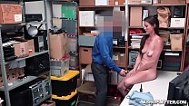LP Officer stuff his big rig in Sofie Marie's shaved pussy balls deep!