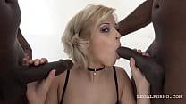 2 black monster cocks & pussy creampie ◦ (fucking free) thumbnail