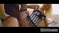 Blonde slut fucked  1 Widescreen TSO[58]