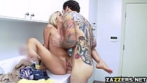 Alexis Fawx rides Keiran Lees big throbbing coc...