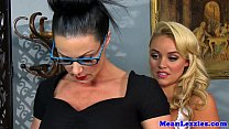 Lesbo babe Alexis Monroe dominated by milf