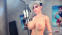 Tattooed and glasses beauties having futa sex i... thumb