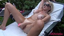Cougar Christie Does Outdoor Oily Cam Show With