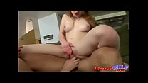 Redhead and blonde fucking