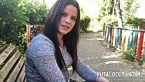 Una Inocente Chica Pillada En La Calle  A Folla