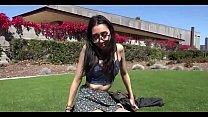 NERDY ASIAN TEEN FLASHES HER TITS IN PUBLIC AND FUCKED HARD Vorschaubild