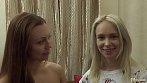 Blonde and Brunette Teens In Old Young Threesom...