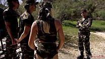 Pornstar Diana Gold DP from Two Soldiers Near T...