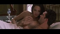 Angelina Jolie exposing tits in bed in Original Sin  Movie porn thumbnail