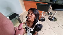 Indian Cleaning Girl Gets A Golden Shower From