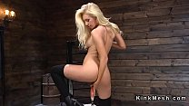 Long haired blonde beauty rides machine's Thumb