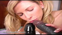 Curvy blonde Czech babe uses a monster black dildo to orgasm pornhub video