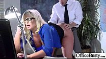 (julie cash) Busty Girl Get Nailed Hard Style In Office video-18 video