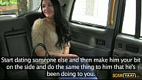 Cutie darling Carmel gets pussy gets penetrated in the taxi