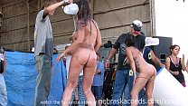 fresh real women competing in biker rally wet tshirt contest Preview