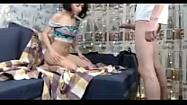 Couple Foot and Blowjob on Webcam صورة