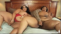2 Big Tit Black BBW Pornstars in Hot Lesbian Ac...