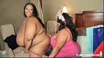 2 Big Tit Black BBW Pornstars in Hot Lesbian Action