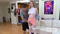 Pretty teen blonde Bunny Colby gets fucked rough by Hookup Hotshot Preview