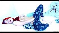 Redhead Teen Has Something Stuck Inside Her Panties