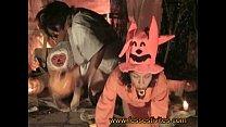 Halloween en couche le cracheur de feu in diaper