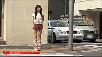 2 guys rip apart this tiny japanese slut and cu...