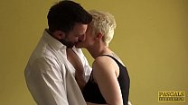 Pixie subslut Mila Milan fed jizz after anal hammering Image