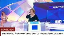 BALARINA NO PROGRAMA SILVIO SANTOS MOSTRANDO A CALCINHA