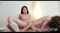 Slutty playgirl girlfriends playing
