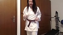 Your girlfriend is a young karateka and she kicks your ass