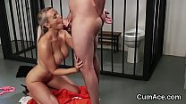 Foxy honey gets cum load on her face swallowing all the charge [얼굴에 앉기 Face Sitting]
