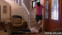 matt m stomping on a guy feet trampling domination