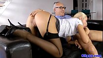 British amateur cocksucking oldman on couch Thumbnail