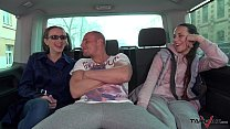 Sultry Secretary Picked up and Fucked Hard in Van with Mea Melone image