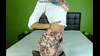 Sexy hijab girl teasing in skirt and pantyhose thumbnail
