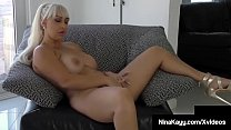 Sex By Text! Nina Kayy Finger Fucks While On The Phone!
