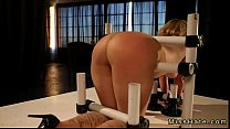 Restrained blonde Sasha Knox gets great ass flo...