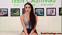Amateur teen anally fucked at brutal casting preview image