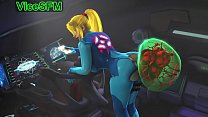 Samus and her metroid pet