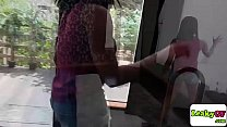 Ebony gf Jenna Foxx rides bfs dick Thumbnail